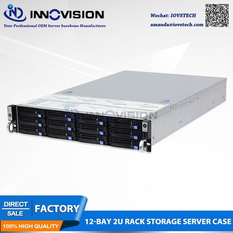Optimized 12 bays 2u rack server case L=650mm huge storage 2u server chassis for cloud/NVR/NAS stable huge storage 16 bays 3u hotswap rack nvr nas server chassis s36504