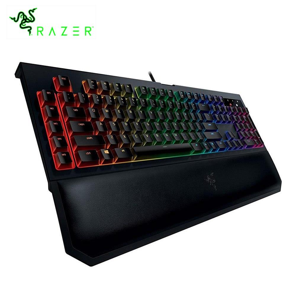 все цены на Razer BlackWidow Chroma V2 RGB Wired Mechanical Keyboard Wrist Rest Tactile & Silent Orange Switches 109 Keys gaming keyboard онлайн
