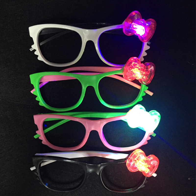 48pcs lot Christmas Party decoration Bar supplies Led flashing glasses glow light glasses cute cartoon plastic