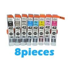 цена на 8pcs compatible Ink Cartridge For canon CLI42 CLI 42 CLI-42 For Canon PIXMA Pro-100 100S Printer cartridges Pro-100 100S printer