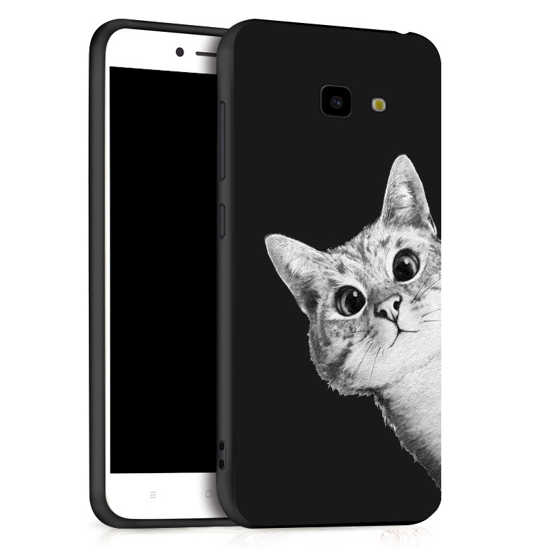 Phone Black Case For Samsung Galaxy J4 Plus 2018 Cover Silicone Soft TPU Case For Samsung J6 Plus A7 J8 J6 J4 2018 Cover Bumper in Fitted Cases from Cellphones Telecommunications
