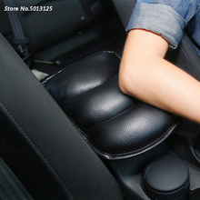 Car Leather Armrest Mat Pillow Pad Auto Console Box Pads Car Arm Rest Top Cover Car Styling For Hyundai Tucson 2019 2018 2017