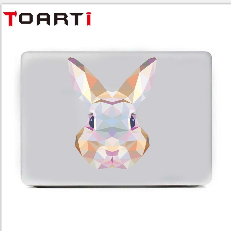 3D Animal Cute Rabbit Laptop Sticker Removable Vinyl Wall Decal For Computer Refrigerator Car Diy Waterproof Home Decor