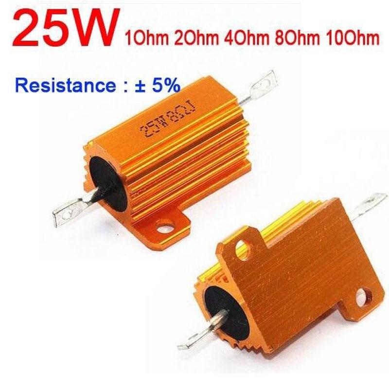 8ohm 25W Watt Power Metal resistor f tube amp test dummy Load 1ohm//2ohm//4 ohm