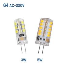 G4 LED Bulb Lamp SMD 2835 AC220V 3W 5W  lamp Degree Crystal Chandelier bulb