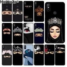 MaiYaCa musulmán islámico Gril ojos suave negro Funda del teléfono Shell para Xiaomi Redmi 5 5Plus Note4 4X Note5 6A Mi 6 Mix2 Mix2S