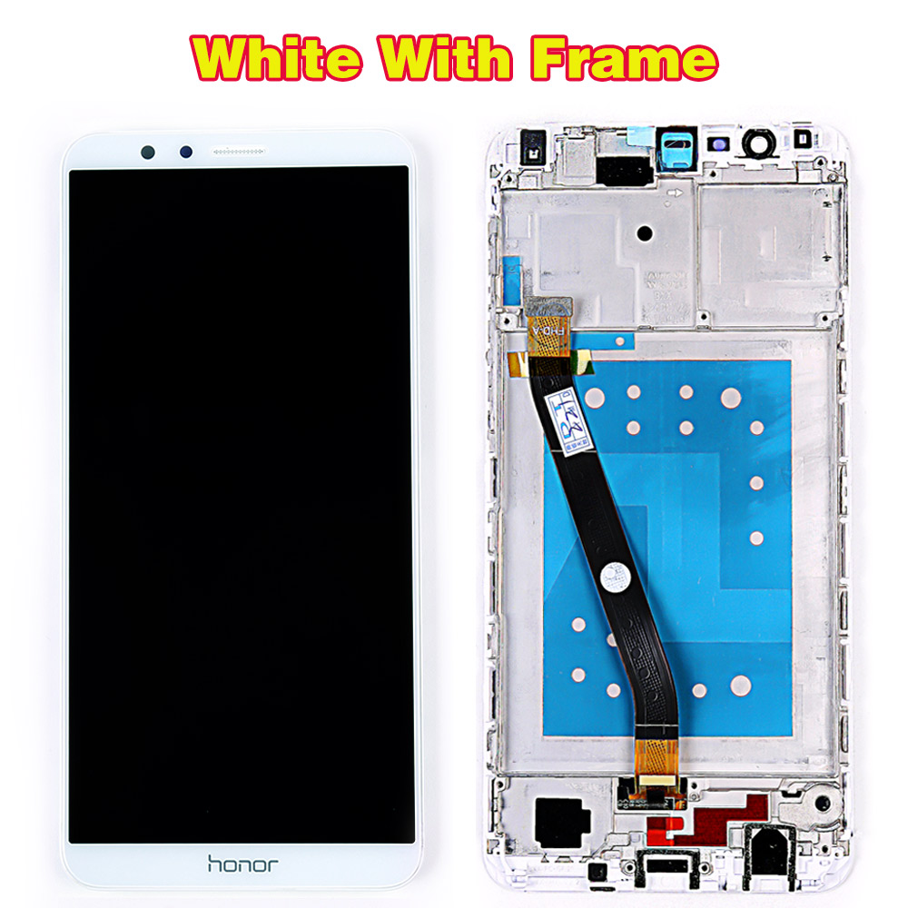 HTB1U18RRVYqK1RjSZLeq6zXppXaQ Huawei Honor 7X BND-L21 BND-L22 BND-L24 5.93 inch LCD display For Mate SE Touch Screen Digitizer Assembly Frame With Free Tools