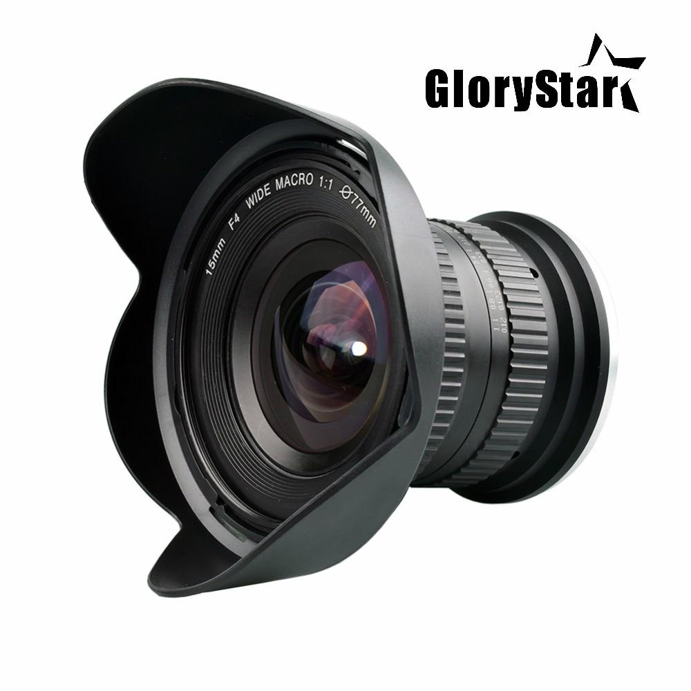 GloryStar 15mm F/4 F4.0-F32 Ultra Grand Angle 1:1 Macro Lentille pour Canon Nikon REFLEX Numérique DSLR