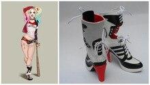 Nuevos zapatos Anime Batman suicidio escuadrón Harley Quinn Cosplay botas de alta calidad personalizado