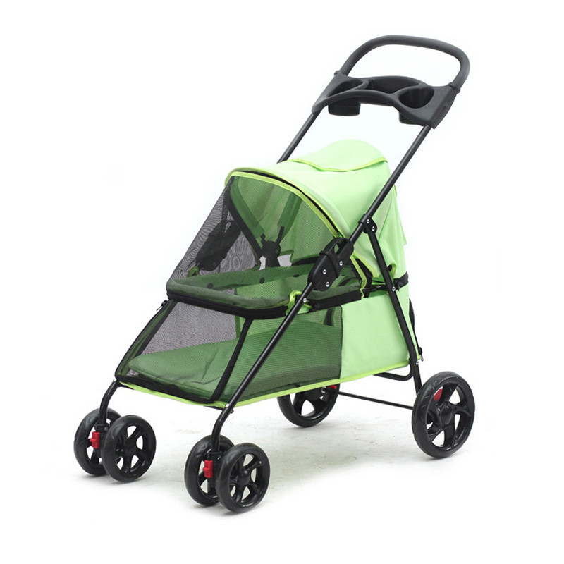 Pet Dog Accessories Delicate Lightweight Two Way Foldable Pet Four-wheeled Trolley Dog Cat Small Pet Outdoor Travel Supplies
