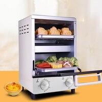 Househould 10l 전기 오븐 미니 피자/치킨 오븐 더블 레이어 전기 오븐 다기능 베이킹 기계 GH12A