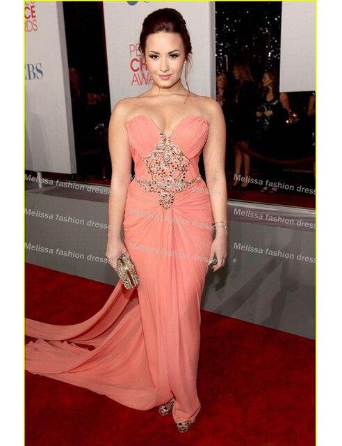 c89d9a142 Beyonce Vestido De decote V profundo Decote Frisada Side Slit Pavimento  Comprimento Celebridade Vestido de Baile