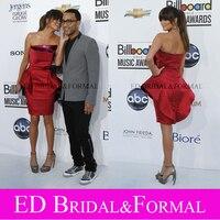 Chrissy Teigen Dress Light Rust Short Cocktail Dress Homecoming Dress Peplum Billboard Music Awards 2012