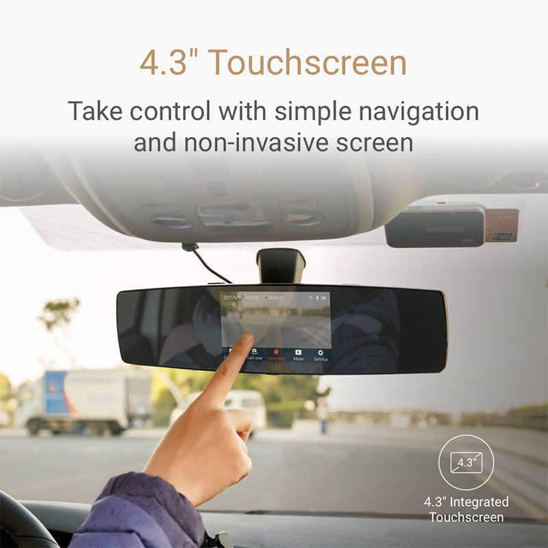 YI зеркальный видеорегистратор Двойной приборной панели камера рекордер Сенсорный Экран Фронтальная камера заднего вида HD камера G датчик ночного видения монитор парковки
