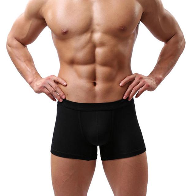 Men's Solid Color Boxers