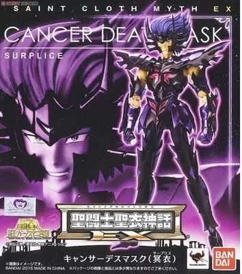 Bandai Saint Cloth Myth EX Cancer Death Mask surplice Action figure toys kids Saint seiya bandai japan version model toys saint seiya cloth myth ex specters shura surplice action figurine toy for children boys gift