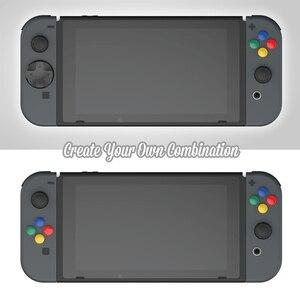 Image 2 - Nintendo anahtarı özel DIY başparmak kavrama seti Joystick kap Analog sopa kapaklar d pad düğmesi nintendo anahtarı NS joycon denetleyici