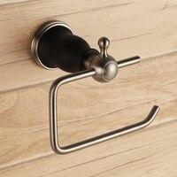 Solid brass copper Matte Black Brushed Nickel bathroom toilet paper holder new Paper roll holder bath hardware accessories