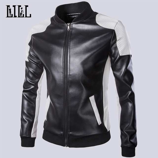 New 2016 Spring Men Fashion Motorcycle Jackets Autumn Male Casual Coats Bomber Jacket Mens Leather Jackets For Sale 5XL,UMA297