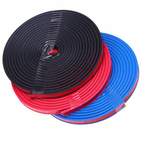 5M Car Rubber Door Seal Strip Soundproof Flexible Weatherstrip Noise Insulation B shaped 3 Color Blue/Red/Black Car Styling