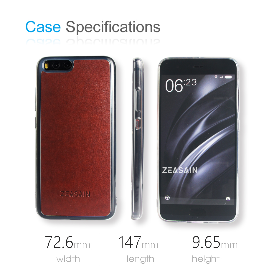 Asli ZEASAIN Slim Shockproof Mode Tutup Kasus Untuk Xiaomi Mi6 Mi 6 - Aksesori dan suku cadang ponsel - Foto 6