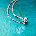 Nova Moda Simples 100% puro Colar de prata do vintage Charme Bar esperança Colares & Pingentes Para as mulheres presente colar de casal