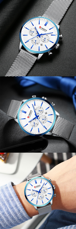 HTB1U19fa.GF3KVjSZFoq6zmpFXat CURREN Watch Men Fashion Business Watches Men's Casual Waterproof Quartz Wristwatch Blue Steel Clock Relogio Masculino