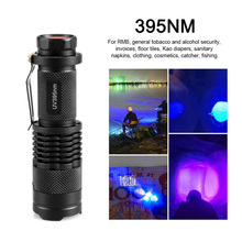 395nm UV Flashlight Ultraviolet Light with Zoom Function Mini UV  Light Pet Urine Stain Scorpion Detector Use AA / 14500 Battery [free ship] 5w 395nm 365nm uv flashlight uv ultraviolet light uv torch ues for anti fake money detector urine scorpion