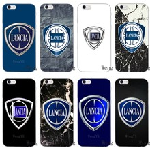 Fashion Luxury Car LANCIA logo Slim silicone Soft phone case For iPhone X 8 8plus 7 7plus 6 6s plus 5 5s 5c SE 4 4s(China)
