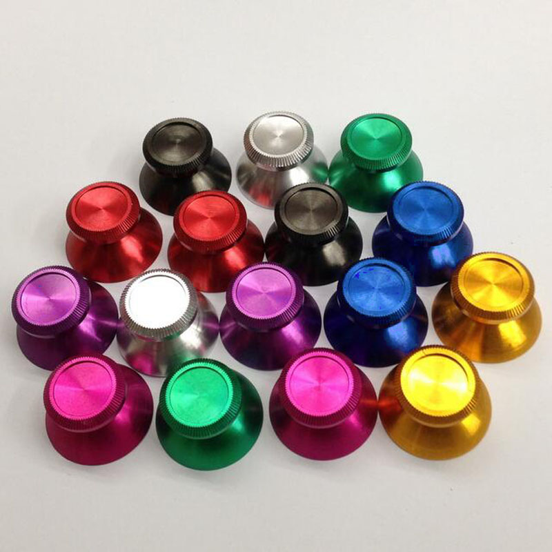 Aluminum Metal Analog Joystick Thumb Stick Grip Cap Gamepad Repair Part For Playstation 4 PS4 Slim Pro DS4 XBOX ONE Controller