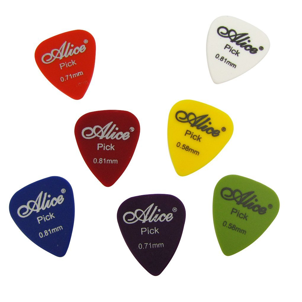 Alice 12pcs 0.58 0.71 0.81mm Guitar Picks Matte ABS Acoustic Electric Guitarra Plectrums 12Q alice plastic guitar picks 12 pack