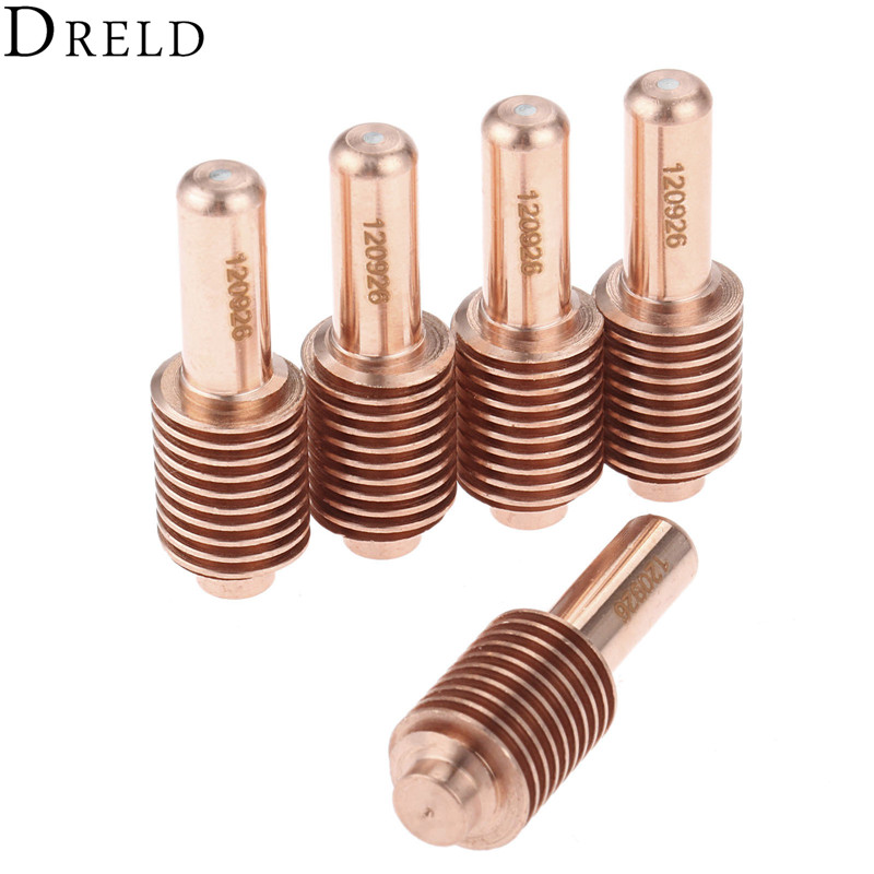 DRELD 5pcs 40A-80A Electrode 120926 All Processes For Plasma Cutting Torch Consumables Replacement Welding & Soldering Supplies