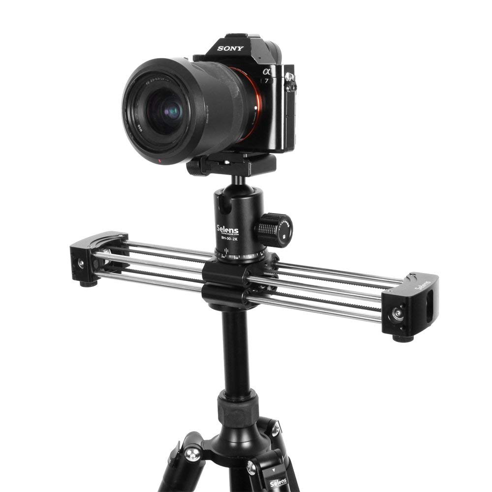 Selens 33cm Mini Aluminum Camera Video Track dolly Slider Rail System for Nikon Canon DSLR camera
