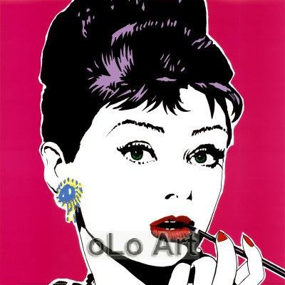 Audrey Hepburn Modern Canvas Pop Art Hand Painted oil Painting on canvas oLo PP011