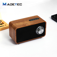 Madetec Wooden Wireless Bluetooth Speaker USB Ports Portable HiFi Shock Bass Spekers USB Loudspeaker For Smartphone VS224