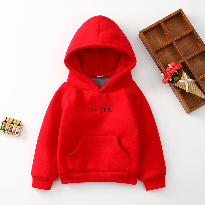 Fashion Boys Girls Sweatshirts Brief Kids Hoodies Letters Print Children Clothes Long Sleeve Sweatshirts Baby Girl Clothes in Hoodies Sweatshirts from Mother Kids