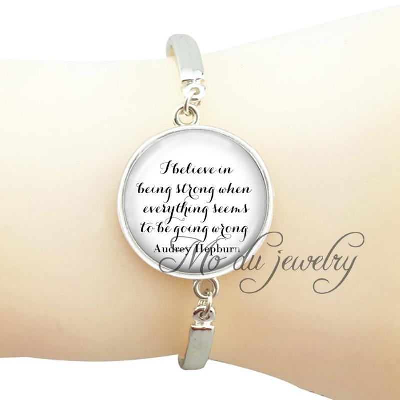Christian Jewelry Inspiration Quote Pendant Charms Glass Dome Wrist Bracelet For Women Men Bracelet Jewelry Silver Plated Bangle Chain & Link Bracelets Bracelets & Bangles