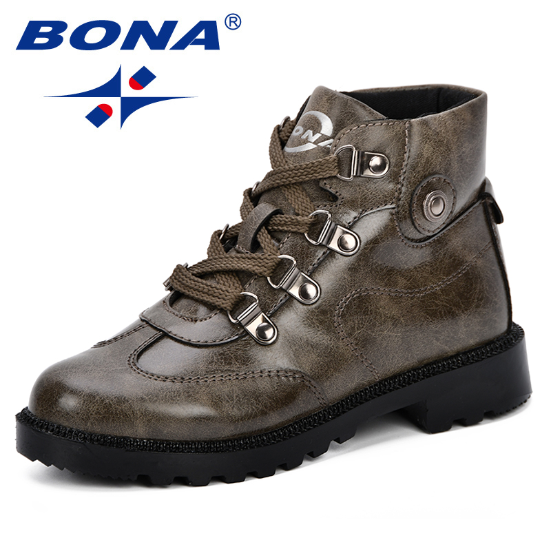 BONA 2018 New Autumn Children Shoes Martin Boots Kids Ankle Boots Brand Girls Boys Boots Fashion Sneakers Comfortable Light fashion children shoes sneakers for kids boys and girls 2014 new style leather boots ankle boots 1280