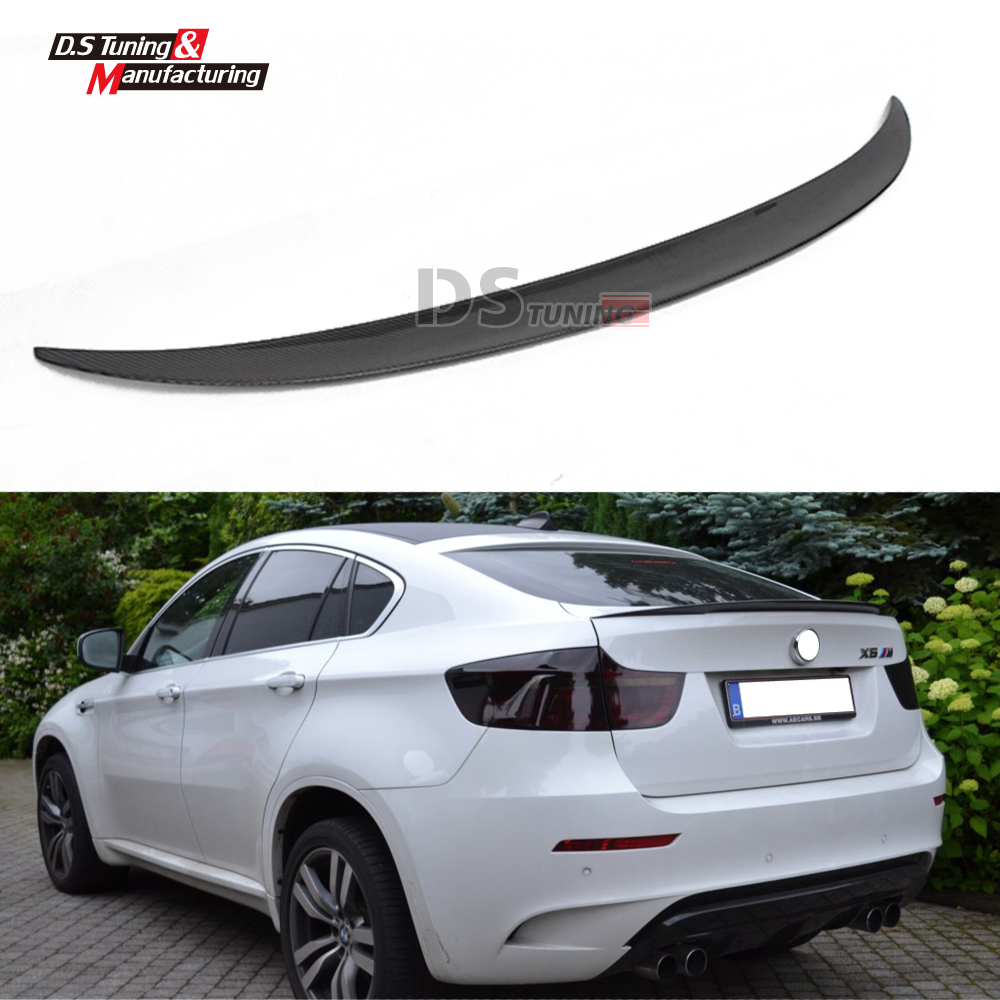 X6 E71 Performance Model Rear Spoiler Carbon Fiber Wing For BMW X6 E71 2009 - 2014 Trunk Boot Wing carbon fiber car rear bumper extension lip spoiler diffuser for bmw x6 e71 e72 2008 2014 xdrive 35i 50i black frp