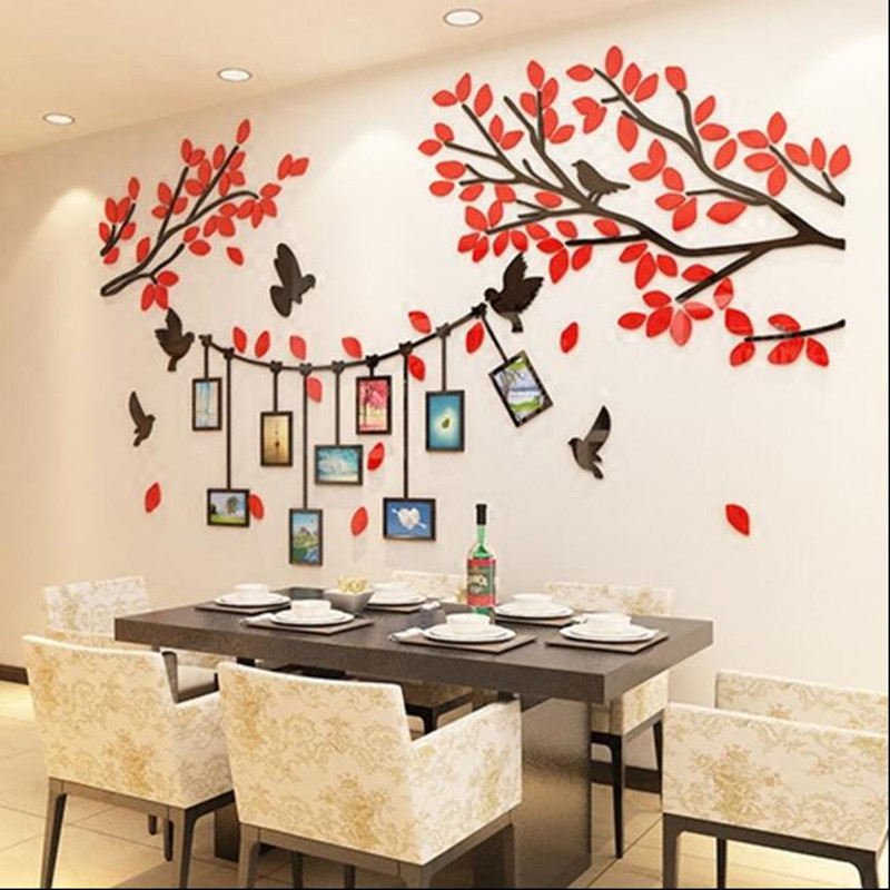 3D stereo acrylic wall sticker photo living room TV background wall decoration bedroom warm wall stickers - 2
