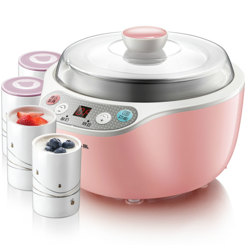 Bear Yogurt Machine Household Automatic Mini Stainless Steel Natto Machine with Cup hot selling electric yogurt machine stainless steel liner mini automatic yogurt maker 1l capacity 220v