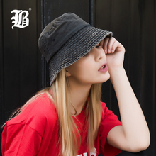 bb6602a8 [FLB] Summer 100% Washed Cotton Denim Sun Hat Women Fashion Floppy Outdoor  Cap