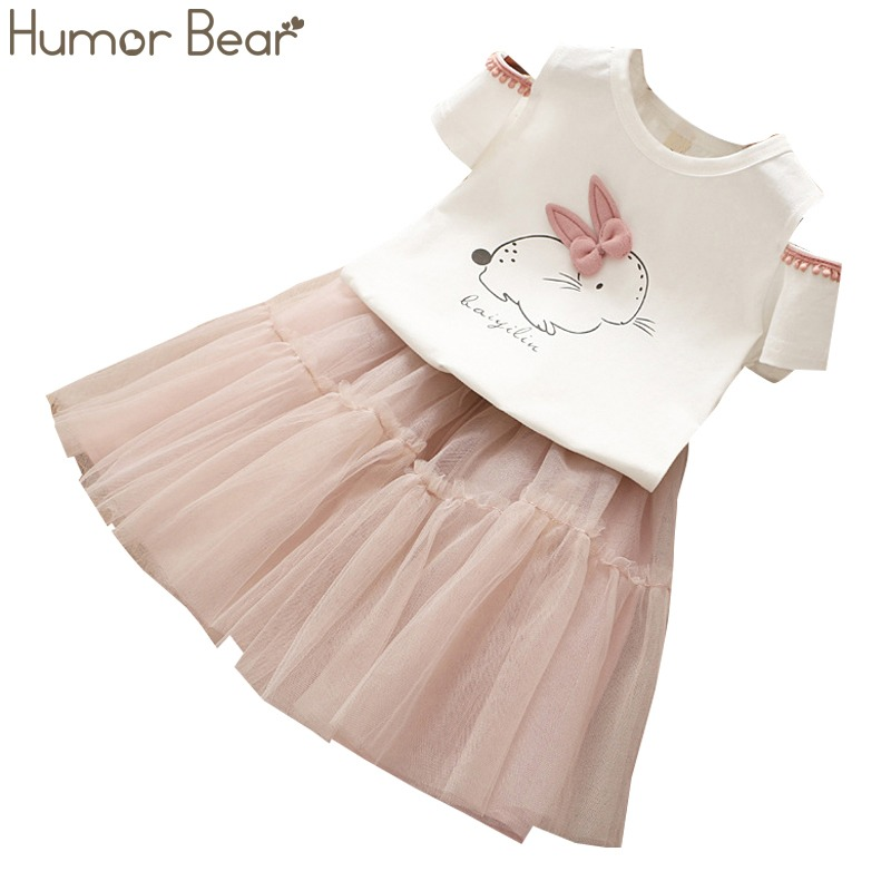 2f414598bdb Humor Bear Baby Girls Clothes 2018 Summer Brand Dew shoulder Design Girls  Clothing Sets Baby Clothes