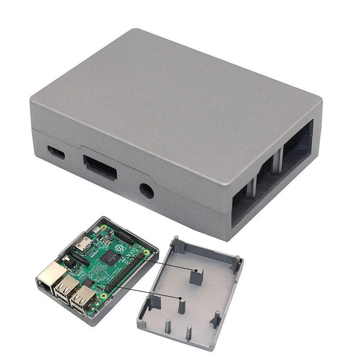 Durable Aluminum Alloy Enclosure Metal Case Box For Pi B+/B/Pi 2/Pi 3 No Need HeatSink Fan Necessary Port Interface For External