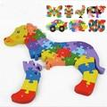 2016 Специальный новый творческий 3d мерного головоломки детские деревянные игрушки ребенка раннего образования игрушки буквенно-цифровой частей для повышения мозга