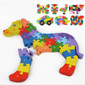 2016 Especial nueva creativo 3d dimensional puzzle niños juguetes bebé temprano educativo del juguete de madera alfanumérico piezas para mejorar el cerebro
