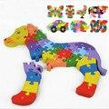 2016 novo Especial criativo dimensional 3d puzzle crianças brinquedos de madeira do bebê brinquedo educativo cedo alfanumérico peças para melhorar o cérebro