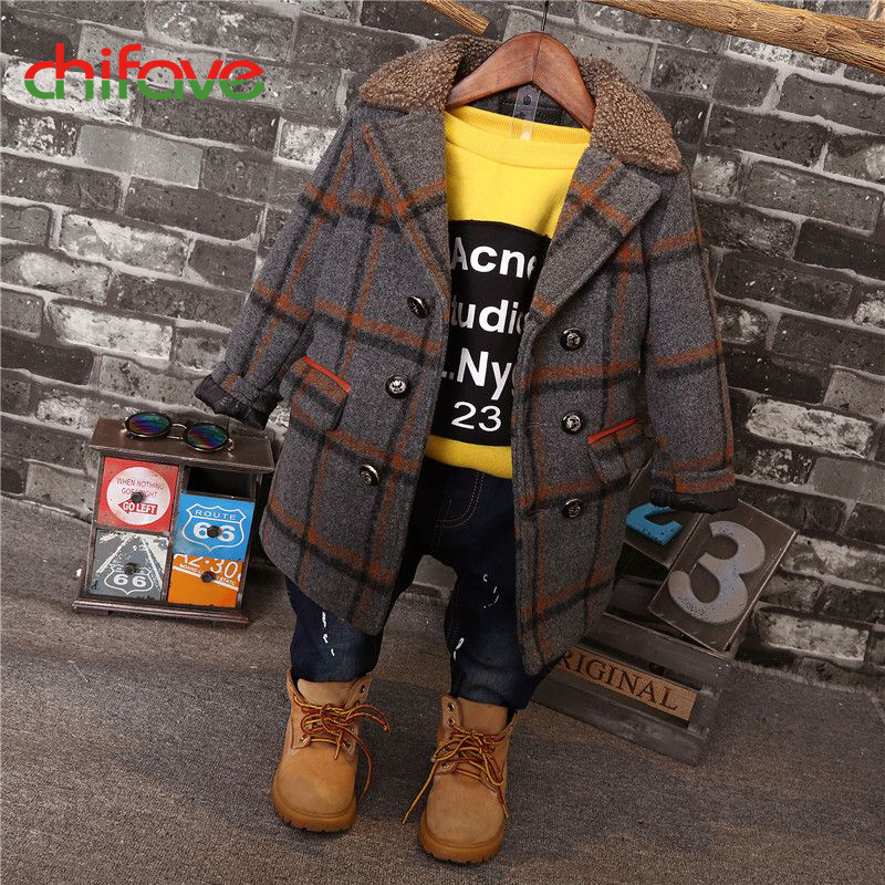 chifave 2017 Autumn Baby Boys Coats Warm Winter Kids Boys Clothes Plaid Jacket Children Clothing Fashion Kids Coat Outwear New chifave winter warm kids boys jacket cotton baby boys coat hooded outwear children clothing print toddler boys jackets fashion