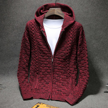 New Arrival Winter Men's Casual Sweater Loose Fashion Warm Zipper With Pockets Brand Cardigan Large Male Size 4xl 5xl 6xl