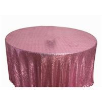 Gold Round Sequin Tablecloth for Home Party Wedding American Style
